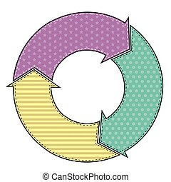 Arrow circle with pattern