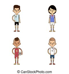 National Euro Cup soccer football teams illustration
