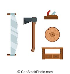 Book stacking table and plane on chair vector. - Book...