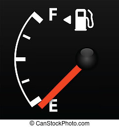 Gas Gauge - Gas gauge on empty
