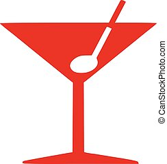 Cocktail glass icon martini