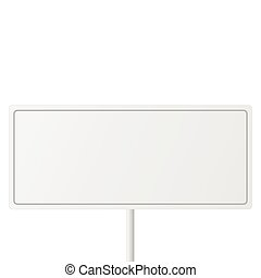 Blank Sign - Blank white sign