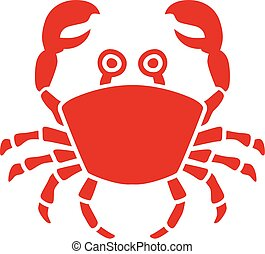 Crab illustration with eyes