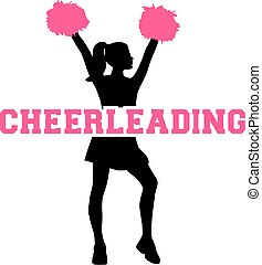 Cheerleading with silhouette
