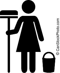 Cleaning Woman PIctogram