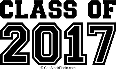 Class of 2017. College font.