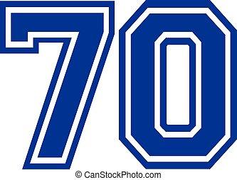 Seventy college number 70