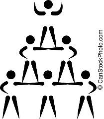 Cheerleading pyramid pictogram