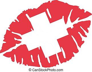 Switzerland kiss
