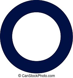 Circle bold outline
