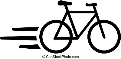 Fast courier bike icon
