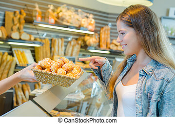 Girl at the bakery