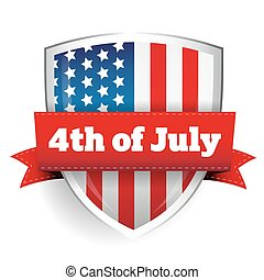 4th of July - shield with flag