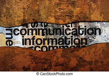 Communication  text on wall