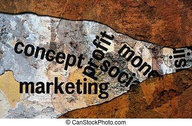 Concept marketing profit grunge concept
