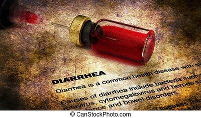 Diarrea, concepto,  Grunge, enfermedad
