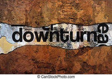 Downturn text on wall