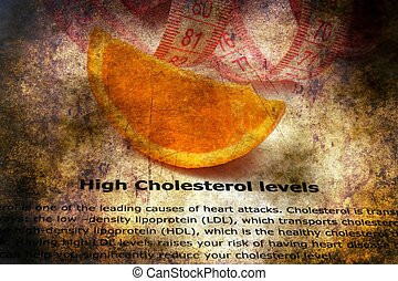 High cholesterol grunge  concept