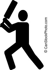 Cricket Batsman pictogram