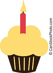 Birthday Cupcake with candle