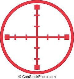 Sniper target crosshair