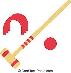 Croquet Wicket Hammer Ball