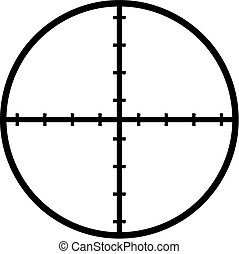 Crosshair reticle target