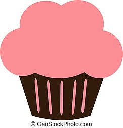 Cupcake icon with pink cream