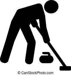 Curling Sweeper Pictogram