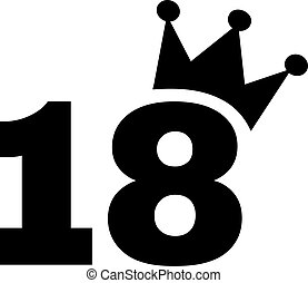 18th Birthday number crown