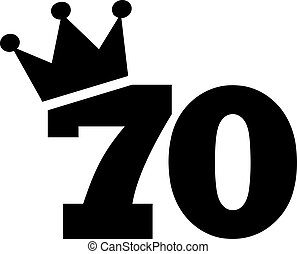 70th Birthday number crown