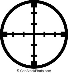Crosshair reticle sniper