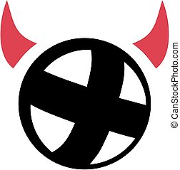 Cycle ball with devil horns