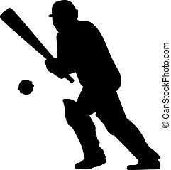 Cricket Batsman Silhouette
