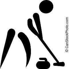 Curling Sweeper Icon