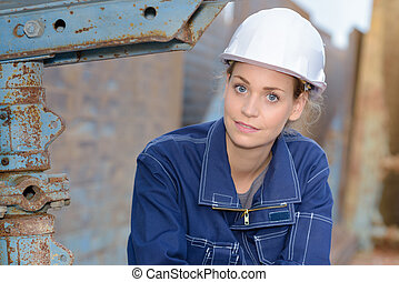 tired woman engineer