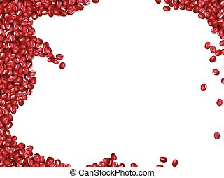 Red beans background, attractive red beans frame isolated on...