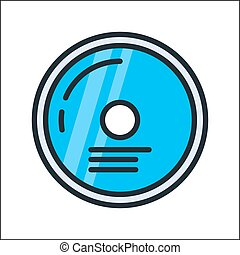 compact disk icon color