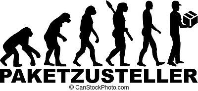 Evolution delivery man. german