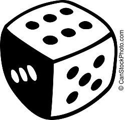 Cube die symbol