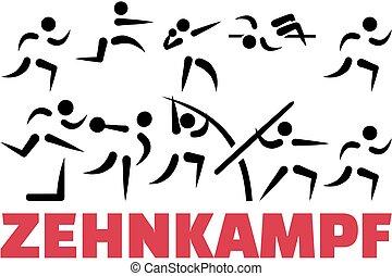 Decathlon icon set german