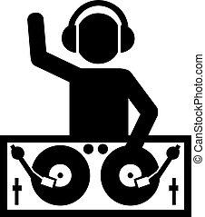 DJ at work pictogram