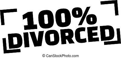 100% Divorced stamp