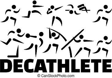 Decathlete icon set