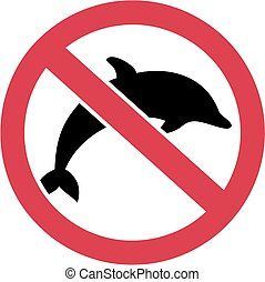 Dolphins forbidden sign