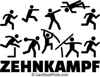 Decathlon pictogram set german