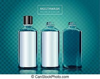 Mouthwash package design