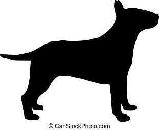 Bull terrier silhouette