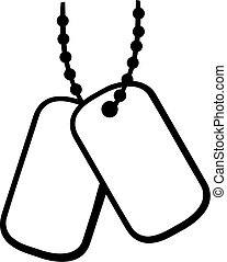 Chain with military tag