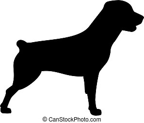 Rottweiler dog icon with short tail